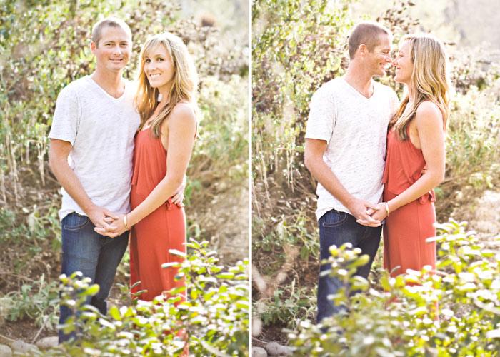 Romantic rustic engagement photos