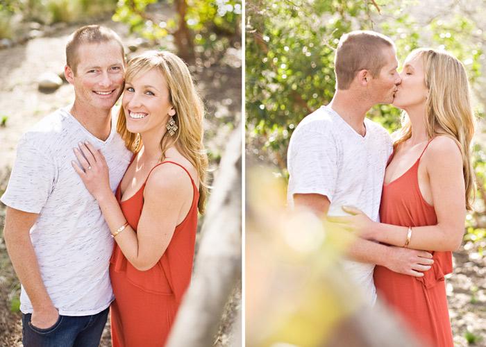 Rustic romantic engagement photos