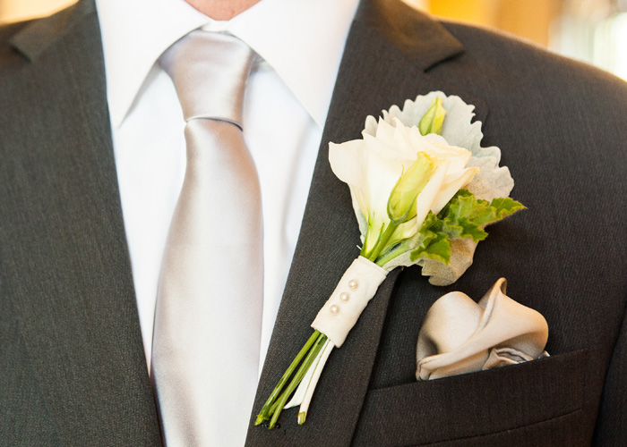 Groom with Tie and Boutonniere