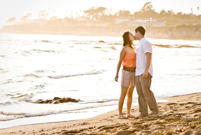 Shell Beach engagement photo