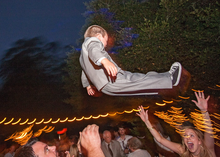 flying boy. tiber canyon wedding