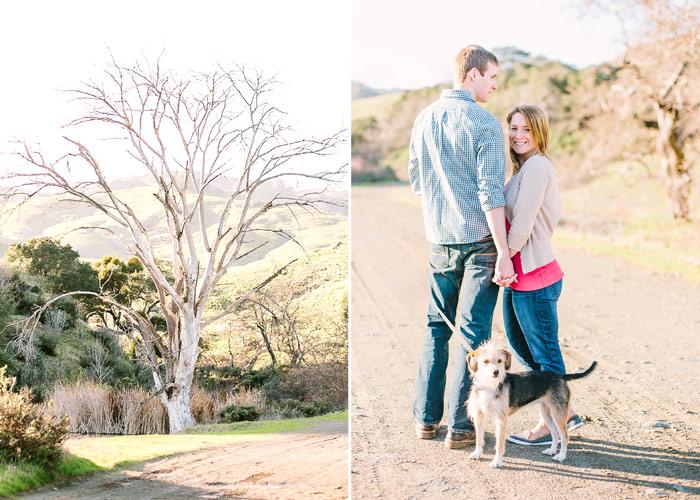 engagement photos at johnson ranch