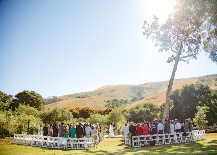 Ceremony at Cayucos creek barn