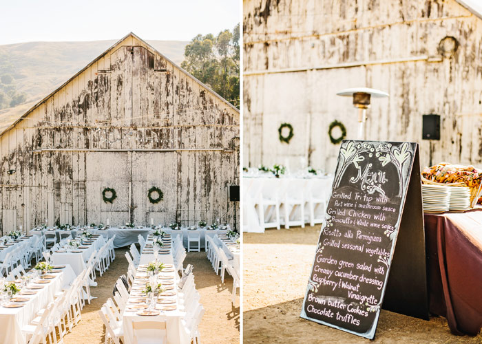 Table Setting And Details Cayucos Creek Barn