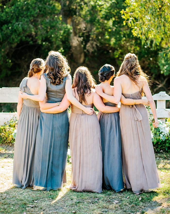Bridesmaids and gowns