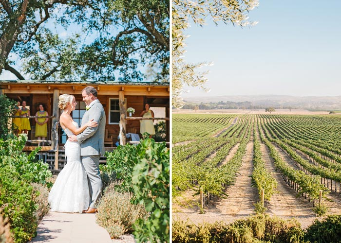 Bride and groom at Still Waters Vineyard