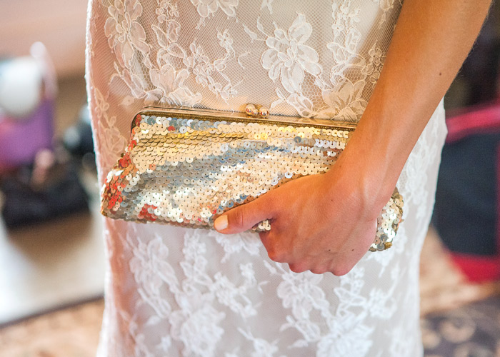 bride with purse