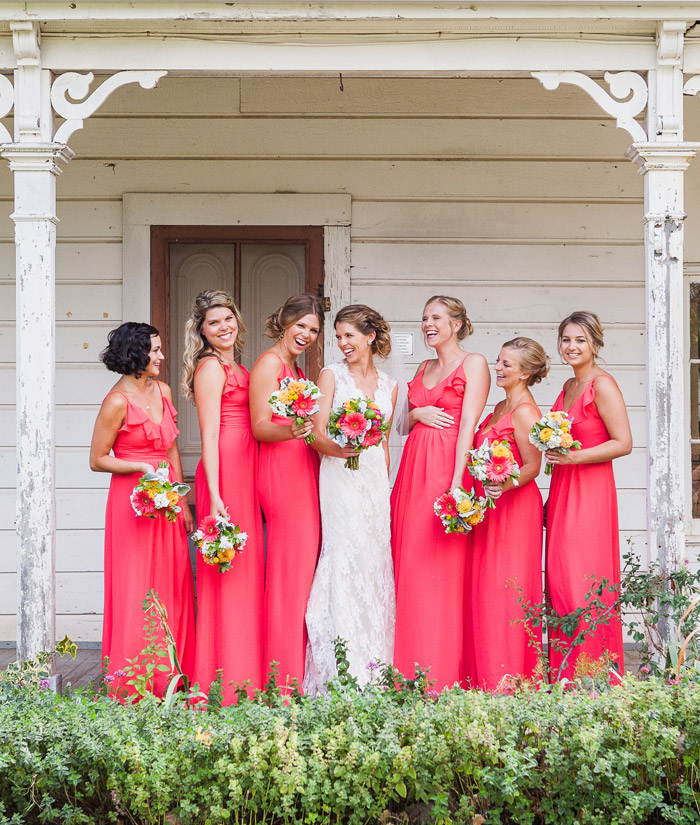 Bridal party-santa margarita ranch