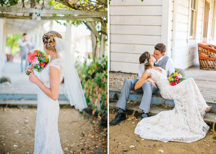 bride and groom at the santa margarita ranch