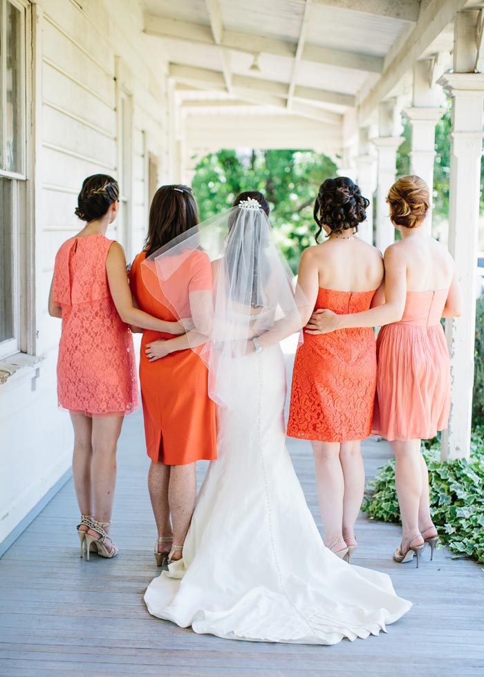 Bridal party and dresses