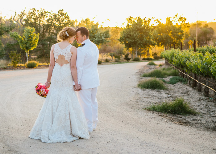 Bride and Groom at Cass Winery in Paso Robles