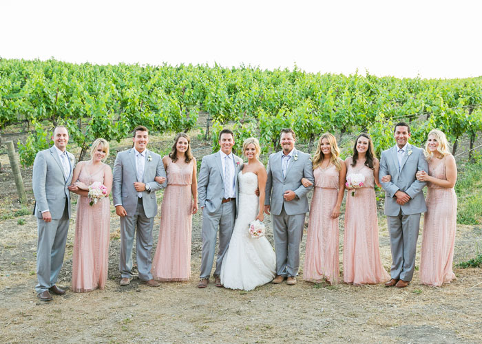 Wedding party at Opolo Vineyard