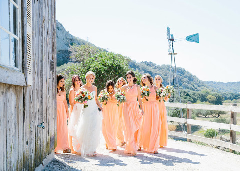Bridal party on Coral.
