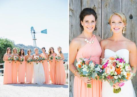 Bride with Bridesmaid.
