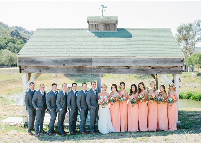 Wedding party at the Holland Ranch.