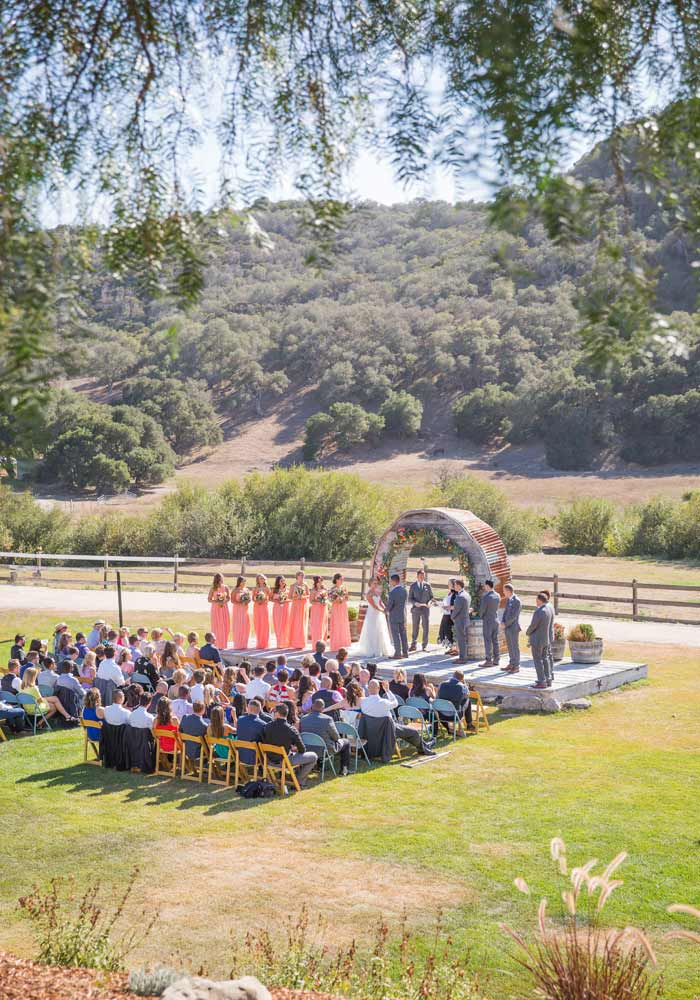 Ceremony at the Holland Ranch.