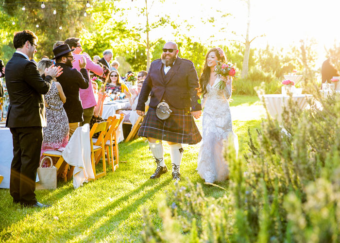 Organic farm wedding in paso robles