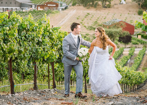 Vineyard wedding in Paso Robles